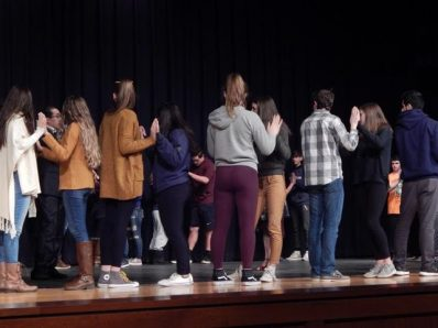 Students learning the steps to Tango