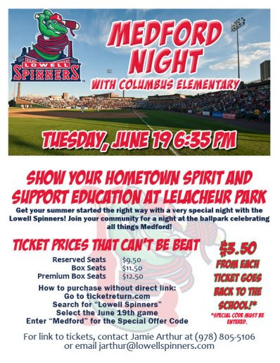 medford night at lowell spinners